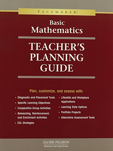 GF BASIC MATH PACEMAKER TEACHER'S PLANNING GUIDE 2000C (Fearon Basic Math) (Pacemaker Programming Books compare prices)