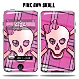 Protective Vinyl Skin Decal Cover for Apple iPod Touch 2G 3G 2nd 3rd Generation 8GB 16GB 32GB mp3 player Sticker Skins - Pink Bow Skull