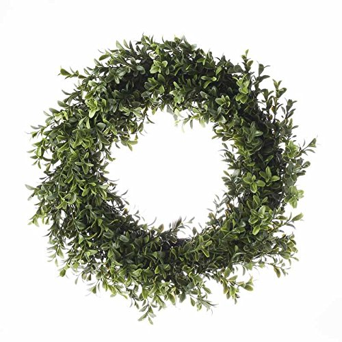 Factory Direct Craft® Artificial Vinyl Boxwood Leaf Wreath for Home Decor, Crafting and Displaying