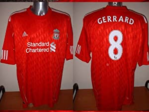Liverpool BNWT Steven GERRARD 2010-12 England Football Soccer Jersey Shirt Adidas XXL by Adidas