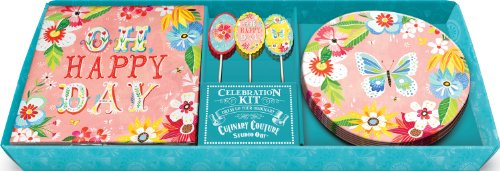 Studio Oh! Dessert Plates, Napkins And Party Picks Celebration Kit, Oh Happy Day