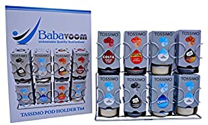 Buy Tassimo Pod Holder Holds 64 Pods Wall Mountable or Freestanding | Unbeatable Quality Guaranteed Babavoom® T64 by Babavoom®