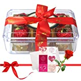 Great Affection For Your Loved With Love Card And Rose - Chocholik Luxury Chocolates