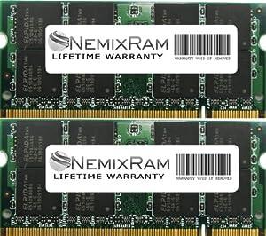 4GB (2X2GB) DDR2 NEMIX RAM Memory 667MHz PC2-5300 SODIMM 200 pin for Notebook Laptop Macbook