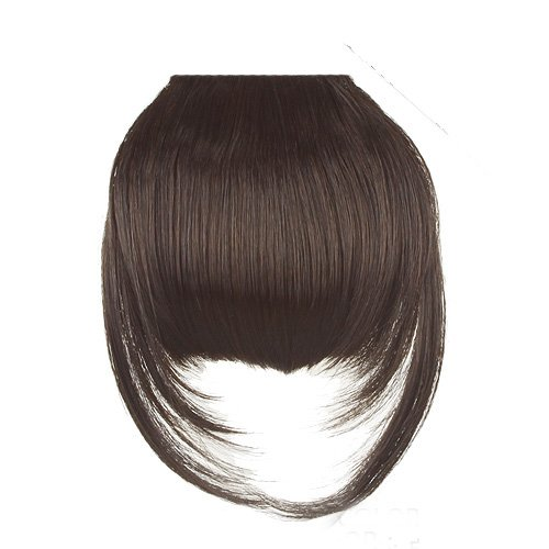 Fashion False Bang Black Neat Fringe Hairpiece Clip in Hair Extensions Accessories