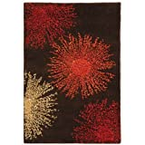 Safavieh Soho Collection Explosions Handmade Brown New Zealand Wool Area Rug, 2-Feet by 3-Feet