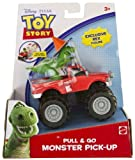 Rex Mini-Figure + Monster Pick-Up: Toy Story Pull & Go Vehicle Series