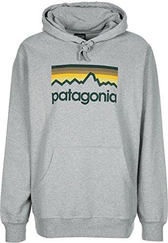 Patagonia Logo Felpa feather grey