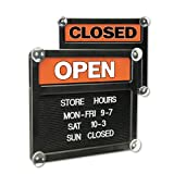 Headline Sign Products - Headline Sign - Double-Sided Open/Closed Sign w/Plastic Push Characters, 14-3/8 x 12-3/8 - Sold As 1 Each - Turn around Open/Closed panel. - Changeable grooved message area. - Sign includes 258-pieceTabbee 3/4