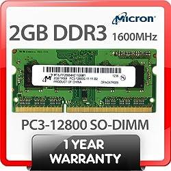 MICRON DDR3 SDRAM 2GB 204 SODIMM MEMORY MODULE MT8JTF25664HZ-1G4M1