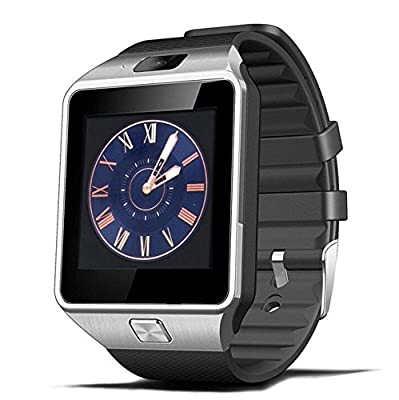 SinoPro DZ09 Bluetooth Smart Wacth Wrist Watch Phone with Camera SIM Card Slot Anti-lost Information Synchronized Functions for iPhone Samsung and other Android Smartphones