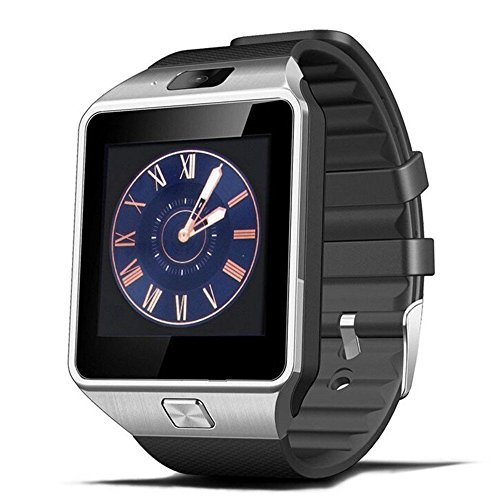 Qiu Feng Qiufeng Dz09 Bluetooth Smart Watch with Camera for Iphone and Android Smartphones (Silver)