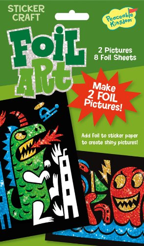 Peaceable Kingdom / Foil Art Beasts Sticker Craft Pack front-634152