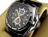 V6 3 色 クロノ グラフ タイプ メンズ 腕 時計 カジュアル ビジネス ウォッチ アナログ (シルバー)