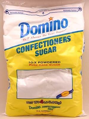 Domino Confectioners Sugar 10-X Powdered Pure Cane Sugar(4 lb bag) by domino
