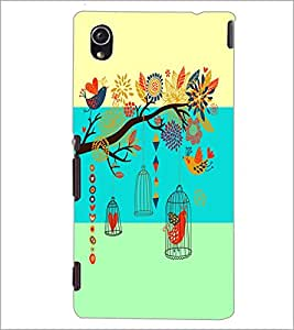 PrintDhaba Floral Pattern D-5933 Back Case Cover for SONY XPERIA M4 AQUA (Multi-Coloured)