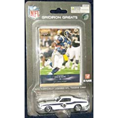 St. Louis Rams 1967 Mustang Fastback with Steven Jackson trading card 2008 Upper Deck... by NFL