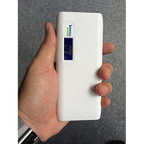 10000mAh 液晶画面付き iPhone6 / iPhone6 Plus 対応 iPhone5S に約6回 iPhone4Sに約7回フル急速充電 [iPhone5sに約2時間、本体に約8時間] 2台同時充電可能 二年保証 PL保険適用 DEEP POWER DP-S437 大容量 モバイルバッテリー ホワイト iPhone 5S 5C 5 4S / iPad Air Mini / Xperia / Galaxy / Android / 各スマートフォン / タブレット / Wi-Fiルータ 対応 可能 / バッテリー自体 電流チェッカー 機能付き