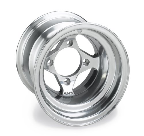 AMS Polished Cast Aluminum Rear Wheel - 10x8,