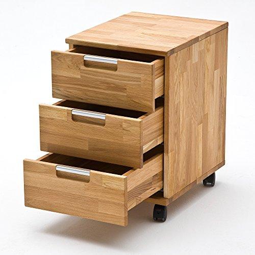 Rollcontainer-MASIMO-3-Schubksten-Schreibtisch-Container-Brotisch-Massivholz-Natur-Asteiche