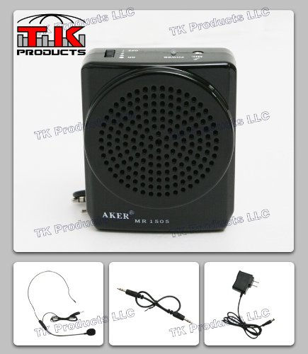 Purchase Aker Voice Amplifier 12watts Black MR1505 by TK Products, Portable, for Teachers, Coaches, ...
