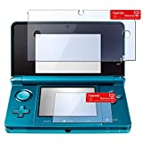 Insten 2 Pack Transparent Clear LCD Screen Protector Film Compatible With Nintendo 3DS (Set of 2 - Top and Bottom Cover)