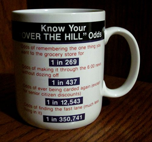 """Vintage """"Know Your 'Over The Hill' Odds"""" Ceramic Coffee Cup/Mug By Hallmark"""