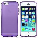 Minisuit Frost TPU Slim Rubber Grip Case for Apple iPhone 6 (Purple)