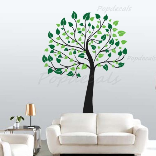 Happy Tree - Beautiful Tree Wall Decals for Kids Rooms Teen Girls Boys Wallpaper Murals Sticker Wall Stickers Nursery Decor Nursery Decals