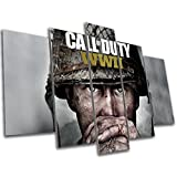 Call of Duty WW2 Gaming Canvas Print - 5 Panel Canvas - Multi Panel Wall Art - Ready To Hang