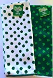 St. Patrick s Day Shamrock Kitchen Bar Lounge Irish Pub Hand Towels Great for Decoration Cooking Use or Bathroom, Set of 2
