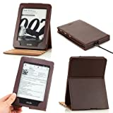 MoKo Vertical Flip Cover Case for Amazon New Kindle Paperwhite with Backlight, COFFEE (With Smart Cover Auto Wake / Sleep) ~ MoKo