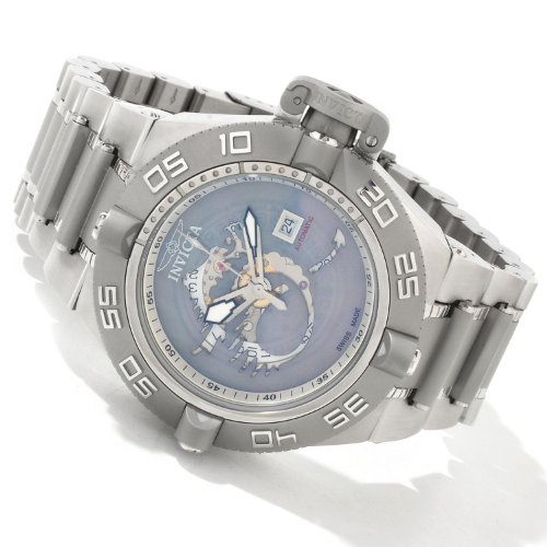Invicta Mens Subaqua Noma IV Dragon Automatic Exhibition Back Bracelet Watch 0411