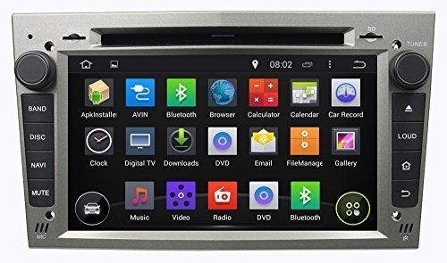 ANLU Android 4.4 Touchscreen Car DVD Player for Opel Astra H G J Vectra Antara Zafira Corsa GPS Navigation Silver Color (Opel Astra G Display compare prices)