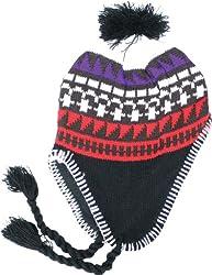 True Gear Winter Earmuff Knit Ski Pom Pom Hat (black red brown white purple)