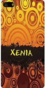 Personalized iPhone 5 back cover case / skin with Xenia (first name/surname/nickname)
