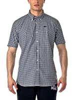 Lonsdale Camisa Hombre Richy (Negro / Blanco)