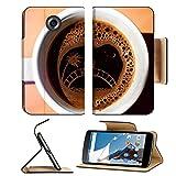 MSD Premium Motorola Google Nexus 6 Flip Pu Leather Wallet Case IMAGE ID 20726838 picture of a couple on coffe