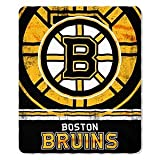 NHL Boston Bruins Fade Away Printed Fleece Throw, 50-inch by 60-inch