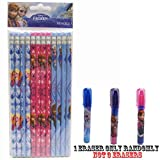 Disney Frozen Pencils 12 and 1 Eraser