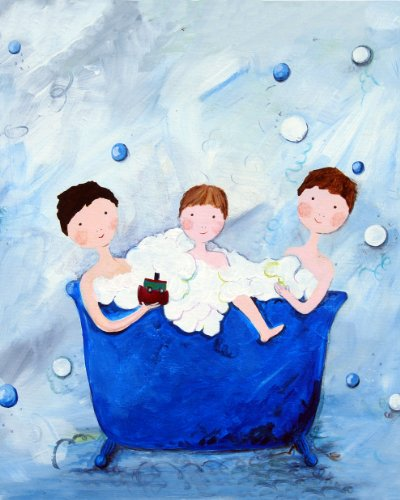 Cici Art Factory 3 Brothers Wall Decor, Blue