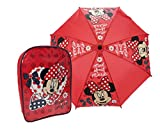 Minnie Mouse Children's Backpack Minnie Mouse Backpack and Umbrella Set 9 liters Pink (Red) DMINN001173AMAZON