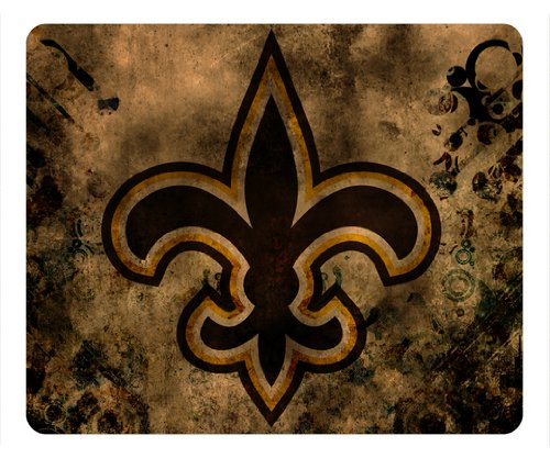New Orleans Saints Logo NFL Sport Rectangle Mouse Pad by aclasscovers at Amazon.com