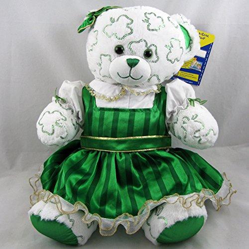 Build A Bear Shimmer Shamrock Lucky Irish Teddy Bear St. Patricks Dress Plush (Shamrock Bear compare prices)