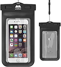 Universal Waterproof iPhone Case by Wildtek. For iPhone 6, 6 plus, 5, 5s, 4, Samsung Galaxy S4, Samsung Note, GPS, mp3 player, passport. Also works as a waterproof wallet, dry bag, pouch. Touch responsive front and back...devices are fully usable in the case. Durable, Eco-Friendly construction and IPX8 Certified. Lifetime Warranty. [BLACK]