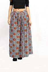 Avishi Long Skirt with Bird Print