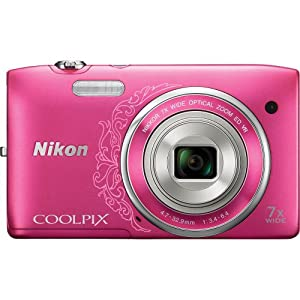 Nikon COOLPIX S3500 20.1 MP Digital Camera with 7x Zoom (Decorative Pink)