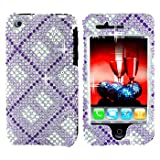 Premium – Apple iPhone 3G/3GS Full Diamond Purple Plaid Cover – Faceplate – Case – Snap On – Perfect Fit Guaranteed Reviews