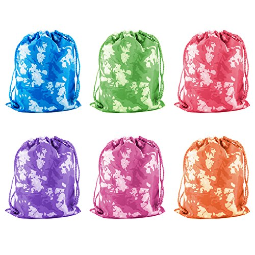 For Sale! Tie-Dyed Camouflage Drawstring Bags Party Favors, Arts & Crafts Activity 12 Pack