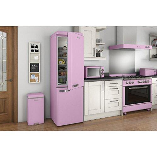SWAN Retro Manual Microwave, 25 Litre, 900 W, Pink